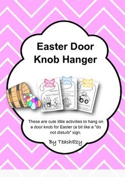 Easter Door Knob hangers