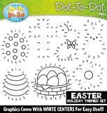 Easter Dot-To-Dot Clipart {Zip-A-Dee-Doo-Dah Designs}