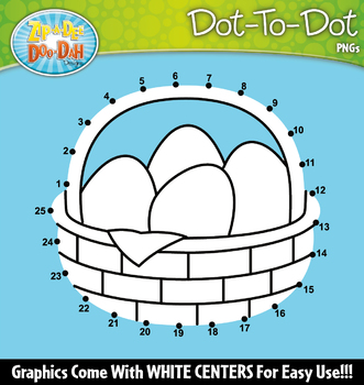 Easter Dot-To-Dot Clipart {Zip-A-Dee-Doo-Dah Designs}
