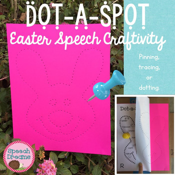 Easter Dot a Spot Speech Therapy Craft pinning tracing dot