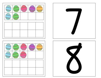 Easter Double Ten Frame Numeral Match