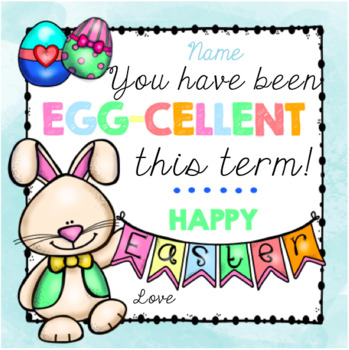 Easter eggcellent gift tag by miss honey teachers tpt easter eggcellent gift tag negle Image collections