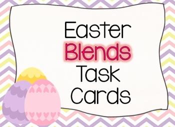 Easter EGGS Blends Task Cards