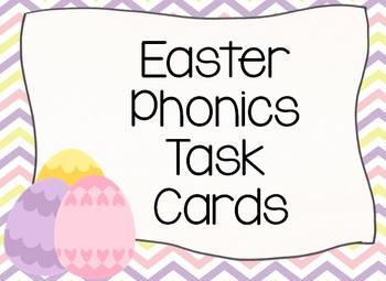 Easter EGGS Phonics Task Cards