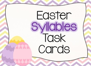 Easter EGGS Syllables Task Cards