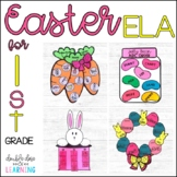Easter ELA Craftivities for 1st Grade (ABC order, sight words, digraphs & more!)