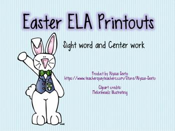 Easter ELA Printouts