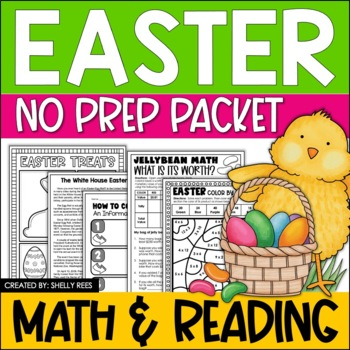Easter Reading Activities - Reading Passage, Figurative Language, Writing, More!