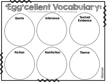Easter ELA Standards Review
