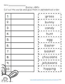 Easter ELA Worksheets
