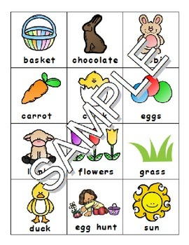 Easter ESL Workbook & Games Package