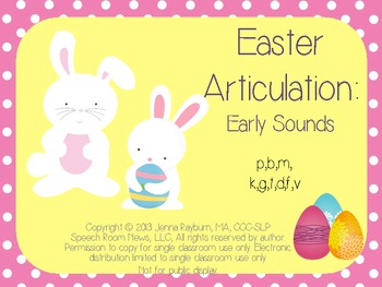 Easter: Early Developing Sounds Articulation Game