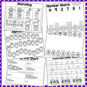 Easter Early Learning Preschool Packet