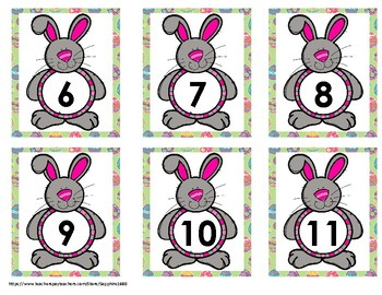 Easter Early Math Concepts (numbers 1 to 20) Bang Game