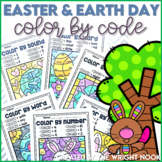Easter & Earth Day Color By Code Distance Learning