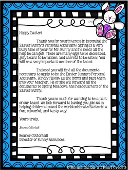 Easter:  Easter Bunny Assistant Literacy Unit