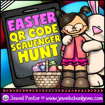 Easter QR Codes Scavenger Hunt Activities