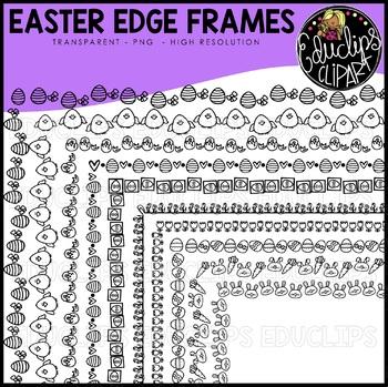 Easter Edge Frames Clip Art Bundle {Educlips Clipart}