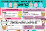 Easter Editable Morning Work Slides