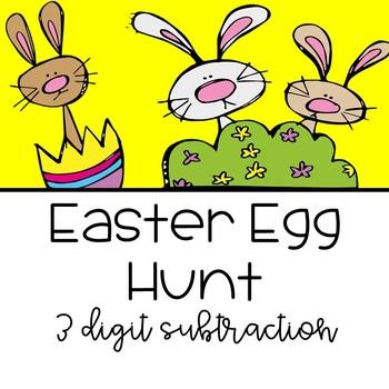 Easter Egg 3 Digit Subtraction