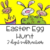 Easter Egg 3 Digit Subtraction