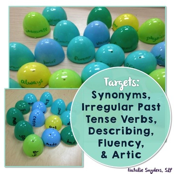 Easter Egg Activities for Speech-Language Therapy: FREEBIE