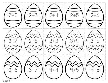 Easter Egg Addition Flashcards