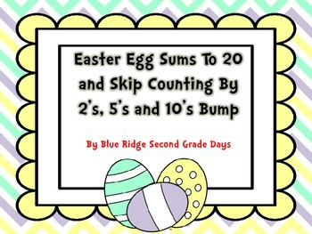 Easter Egg Addition Sums Up To 20 and Skip Counting By 2's