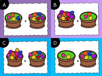 Easter Egg Addition Task Cards