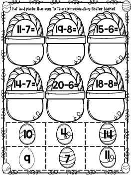 Easter Egg Addition and Subtraction