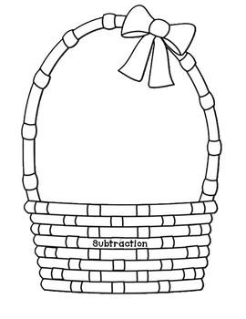 Easter Egg Addition and Subtraction Word Problem Sort