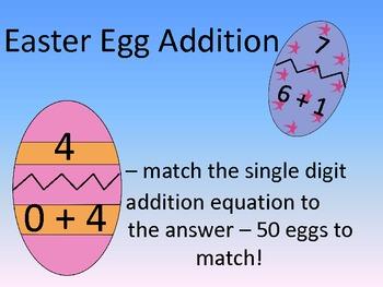 Easter Egg Addition - single digit