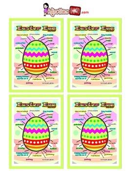 Easter Egg Adjectives