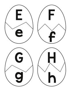 Easter Egg Alphabet