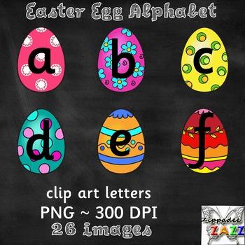 Easter Egg Alphabet Clipart for Bulletin Boards