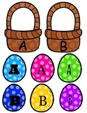 Easter Egg Alphabet File Folder Game