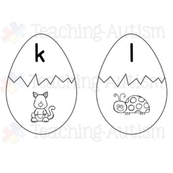 Easter Initial Letter Matching