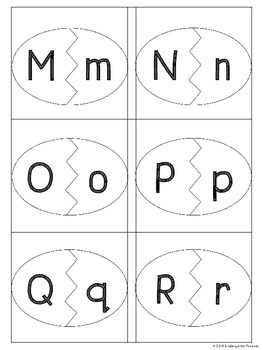 Easter Egg Alphabet Matching - Upper case and Lower case Match Activity