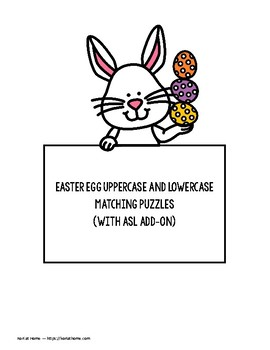Easter Egg Alphabet Puzzles with ASL Option