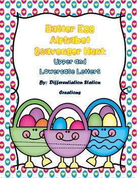 Easter Egg Alphabet Scavenger Hunt: Upper and Lowercase Letters