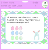 Times Tables Easter Egg Array Task Cards for the 3 x Table