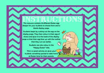 Easter Egg Art Activity