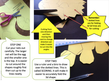 Easter Egg Art and Maths lesson: spring themed decorated egg net!