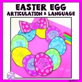 Easter Articulation and Language Wreath Craft
