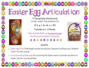 Easter Egg Articulation [f, v, k, g, l, sh, ch, s, r, th and blends]