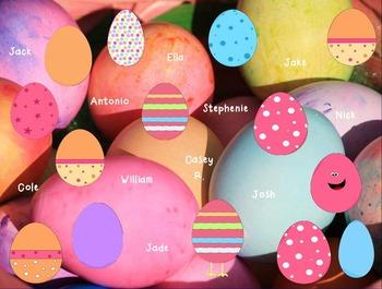SMART Board Attendance: Easter Eggs