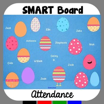 Easter SMART Board Attendance