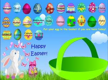 Easter Egg Attendance for SMART Notebook