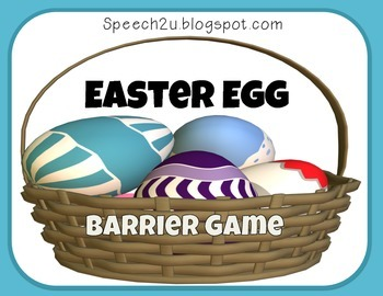 Easter Egg Barrier Activity: Freebie, Speech Therapy