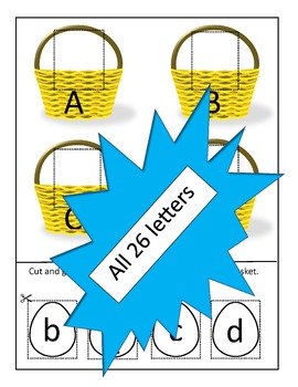Eggs in a Basket Letter Matching